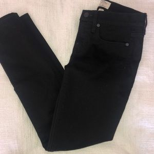 J Crew Black Toothpick Jeans